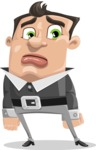 Chubby Businessman Cartoon Vector Character AKA Hank - Sad