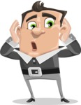 Chubby Businessman Cartoon Vector Character AKA Hank - Shocked