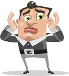 Chubby Businessman Cartoon Vector Character AKA Hank - Confused
