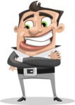 Chubby Businessman Cartoon Vector Character AKA Hank - Patient