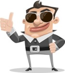 Chubby Businessman Cartoon Vector Character AKA Hank - Sunglasses