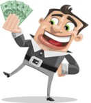Chubby Businessman Cartoon Vector Character AKA Hank - Show me the Money