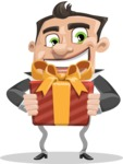 Chubby Businessman Cartoon Vector Character AKA Hank - Gift