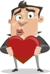 Chubby Businessman Cartoon Vector Character AKA Hank - Love
