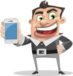 Chubby Businessman Cartoon Vector Character AKA Hank - iPhone