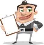 Chubby Businessman Cartoon Vector Character AKA Hank - Notepad 1