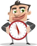 Chubby Businessman Cartoon Vector Character AKA Hank - Time is Yours