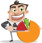 Chubby Businessman Cartoon Vector Character AKA Hank - Chart