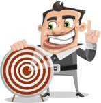 Chubby Businessman Cartoon Vector Character AKA Hank - Target
