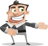 Chubby Businessman Cartoon Vector Character AKA Hank - Show2