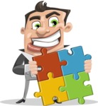Chubby Businessman Cartoon Vector Character AKA Hank - Puzzle