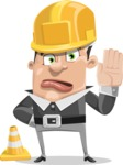 Chubby Businessman Cartoon Vector Character AKA Hank - Under Construction 1