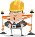 Chubby Businessman Cartoon Vector Character AKA Hank - Under Construction 2
