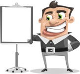 Chubby Businessman Cartoon Vector Character AKA Hank - Presentation 1