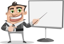 Chubby Businessman Cartoon Vector Character AKA Hank - Presentation 2