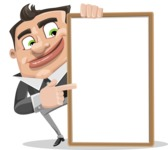 Chubby Businessman Cartoon Vector Character AKA Hank - Presentation 4