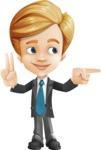 Business Kid Cartoon Vector Character AKA Sid - Point2