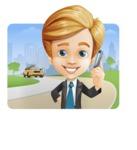 Business Kid Cartoon Vector Character AKA Sid - Shape1