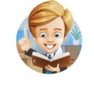 Business Kid Cartoon Vector Character AKA Sid - Shape2