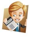 Business Kid Cartoon Vector Character AKA Sid - Shape3