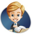 Business Kid Cartoon Vector Character AKA Sid - Shape4