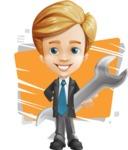 Business Kid Cartoon Vector Character AKA Sid - Shape5