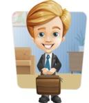 Business Kid Cartoon Vector Character AKA Sid - Shape6