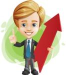 Business Kid Cartoon Vector Character AKA Sid - Shape9