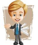 Business Kid Cartoon Vector Character AKA Sid - Shape11