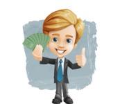 Business Kid Cartoon Vector Character AKA Sid - Shape12
