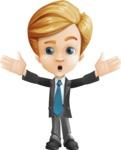 Business Kid Cartoon Vector Character AKA Sid - Shocked