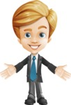 Business Kid Cartoon Vector Character AKA Sid - Hello