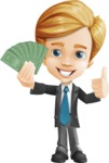 Business Kid Cartoon Vector Character AKA Sid - Show me the money