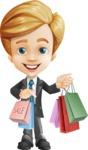Business Kid Cartoon Vector Character AKA Sid - Sale