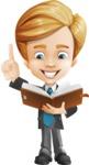 Business Kid Cartoon Vector Character AKA Sid - Book3