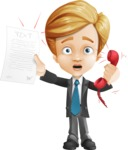 Business Kid Cartoon Vector Character AKA Sid - Office Fever