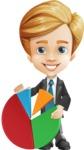 Business Kid Cartoon Vector Character AKA Sid - Chart