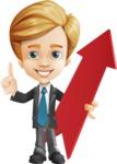 Business Kid Cartoon Vector Character AKA Sid - Pointer1