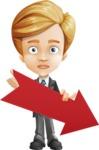 Business Kid Cartoon Vector Character AKA Sid - Pointer3