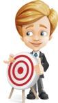 Business Kid Cartoon Vector Character AKA Sid - Target