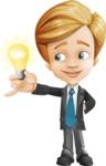Business Kid Cartoon Vector Character AKA Sid - Idea2