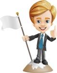 Business Kid Cartoon Vector Character AKA Sid - On Top