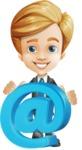 Business Kid Cartoon Vector Character AKA Sid - Email