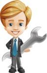Business Kid Cartoon Vector Character AKA Sid - Repair
