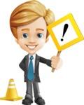 Business Kid Cartoon Vector Character AKA Sid - Under Construction1