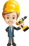Business Kid Cartoon Vector Character AKA Sid - Under Construction2