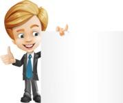 Business Kid Cartoon Vector Character AKA Sid - Sign8