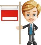 Business Kid Cartoon Vector Character AKA Sid - Sign9
