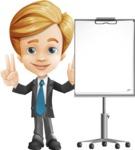 Business Kid Cartoon Vector Character AKA Sid - Presentation1