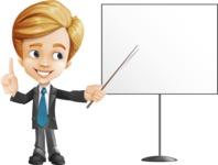 Business Kid Cartoon Vector Character AKA Sid - Presentation2